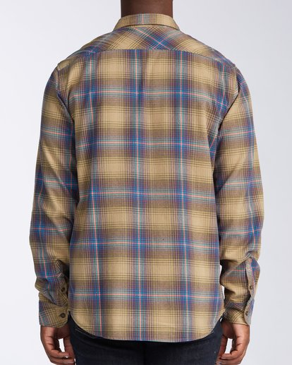 3 Coastline Flannel Shirt Brown M5323BCO Billabong