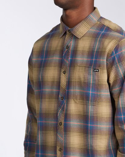 4 Coastline Flannel Shirt Brown M5323BCO Billabong