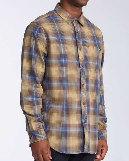 2 Coastline Flannel Shirt Brown M5323BCO Billabong