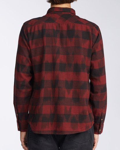 3 Coastline Flannel Shirt Red M5323BCO Billabong
