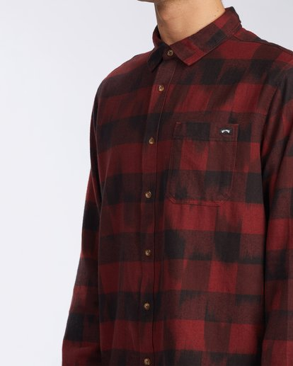 4 Coastline Flannel Shirt Red M5323BCO Billabong