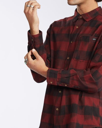 5 Coastline Flannel Shirt Red M5323BCO Billabong