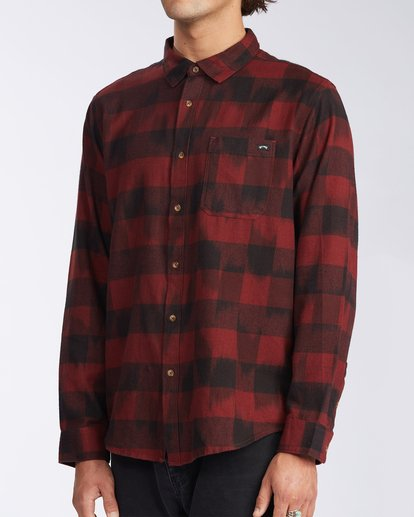 1 Coastline Flannel Shirt Red M5323BCO Billabong