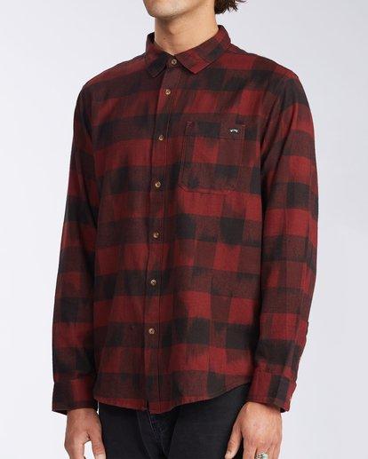 1 Coastline Flannel Shirt Red M5323BCO Billabong