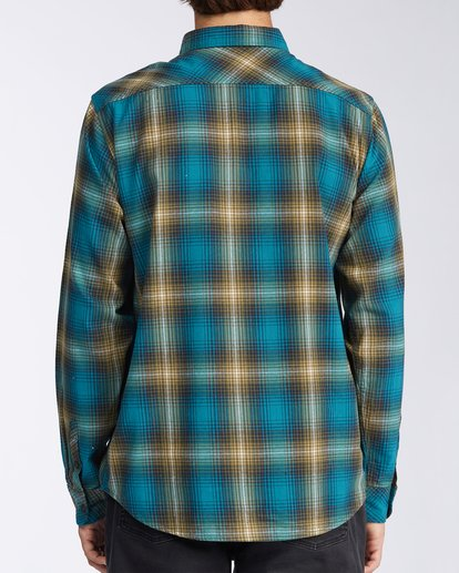 3 Coastline Flannel Shirt Blue M5323BCO Billabong