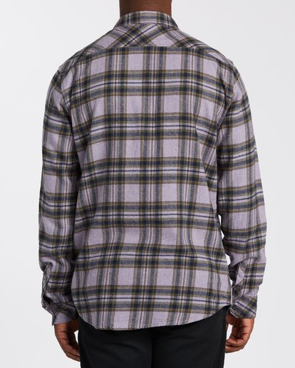 2 Coastline Flannel Shirt Purple M5323BCO Billabong