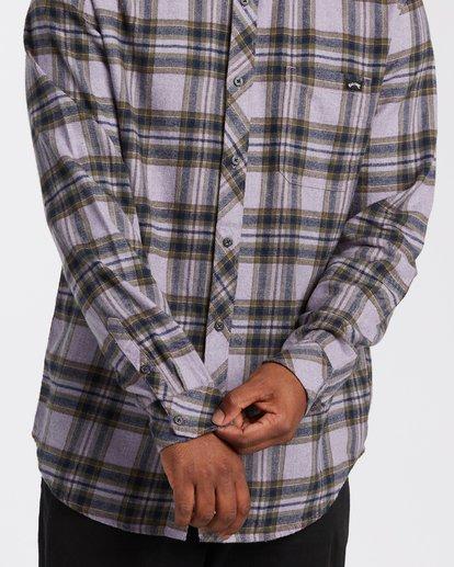 3 Coastline Flannel Shirt Purple M5323BCO Billabong