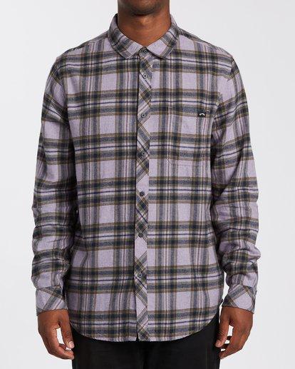 0 Coastline Flannel Shirt Purple M5323BCO Billabong