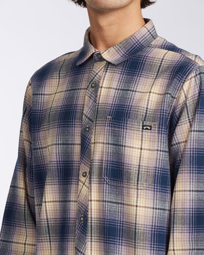4 Coastline Flannel Shirt Blue M5323BCO Billabong