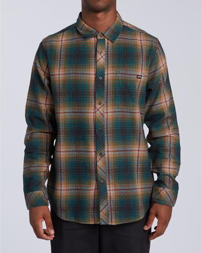 0 Coastline Flannel Shirt Black M5323BCO Billabong