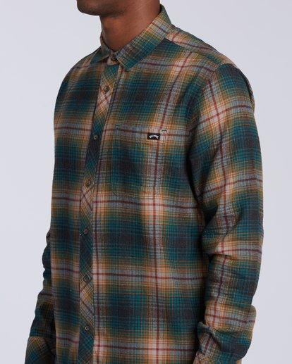 2 Coastline Flannel Shirt Black M5323BCO Billabong