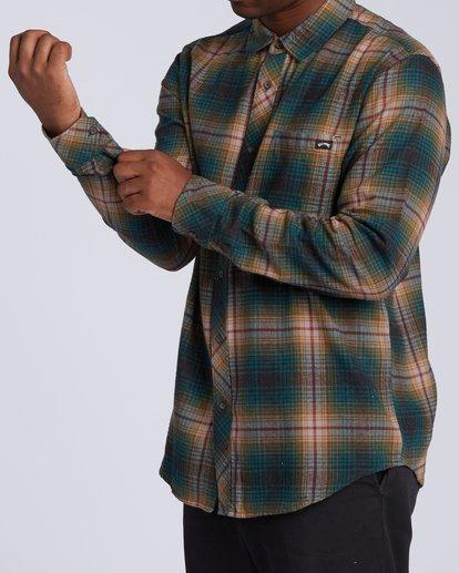 3 Coastline Flannel Shirt Black M5323BCO Billabong