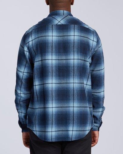 4 Coastline Flannel Shirt Blue M5323BCO Billabong