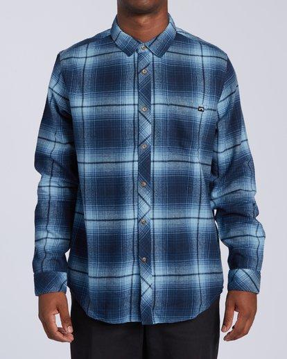 0 Coastline Flannel Shirt Blue M5323BCO Billabong