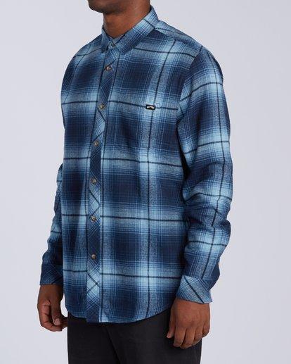 1 Coastline Flannel Shirt Blue M5323BCO Billabong