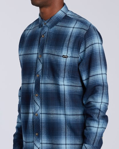 2 Coastline Flannel Shirt Blue M5323BCO Billabong