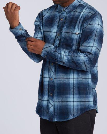 3 Coastline Flannel Shirt Blue M5323BCO Billabong