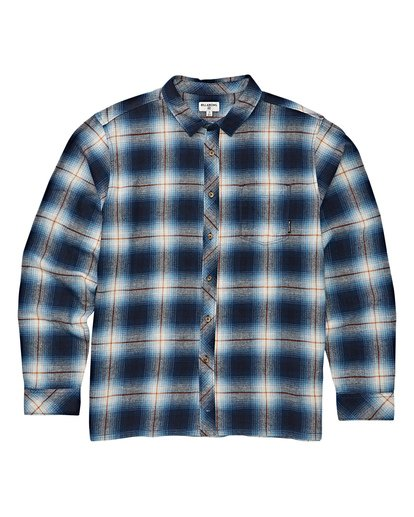5 Coastline Long Sleeve Flannel Shirt Blue M532VBCO Billabong