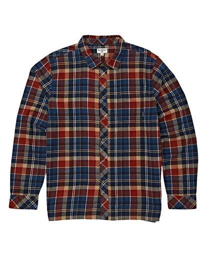 5 Coastline Long Sleeve Flannel Shirt Blue M532VBCO Billabong