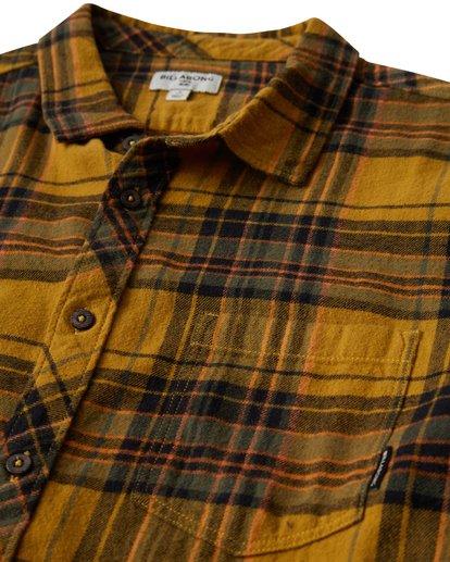 1 Coastline Long Sleeve Flannel Shirt Yellow M532VBCO Billabong