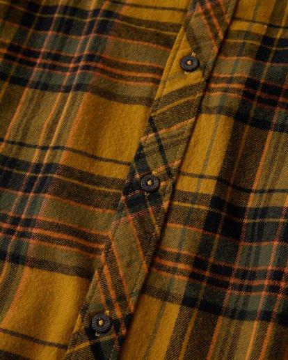 2 Coastline Long Sleeve Flannel Shirt Yellow M532VBCO Billabong