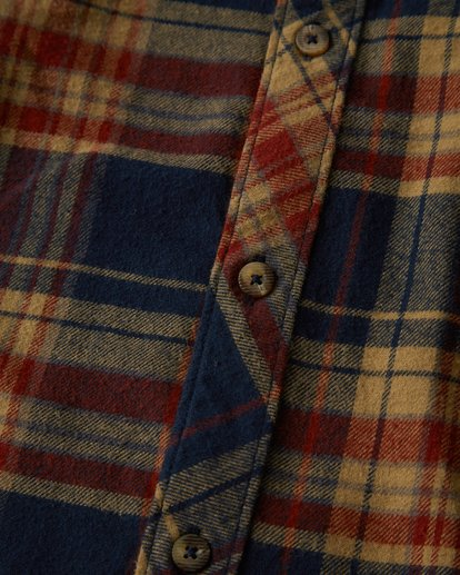 2 Coastline Long Sleeve Flannel Shirt Blue M532VBCO Billabong
