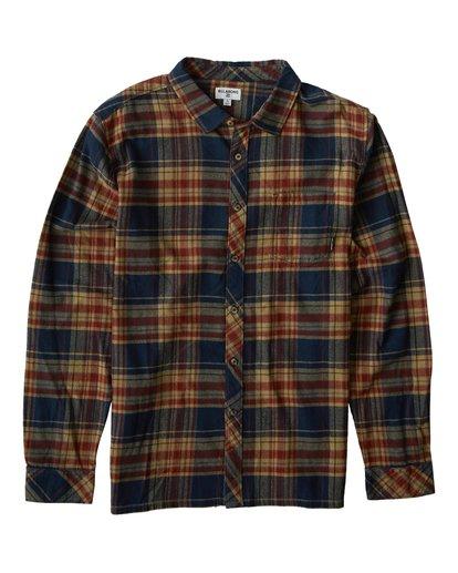 0 Coastline Long Sleeve Flannel Shirt Blue M532VBCO Billabong