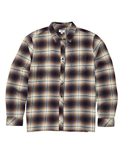 5 Coastline Long Sleeve Flannel Shirt Purple M532VBCO Billabong