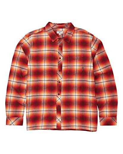 5 Coastline Long Sleeve Flannel Shirt Red M532VBCO Billabong