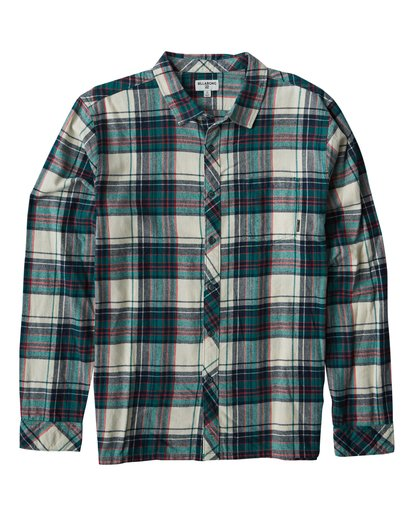 0 Coastline Long Sleeve Flannel Shirt Grey M532VBCO Billabong