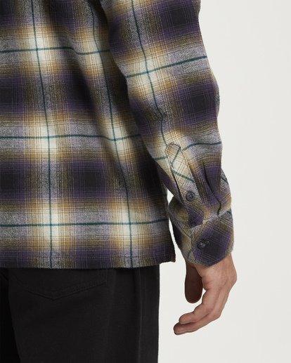 4 Coastline Long Sleeve Flannel Shirt Purple M532VBCO Billabong