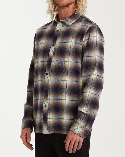 1 Coastline Long Sleeve Flannel Shirt Purple M532VBCO Billabong