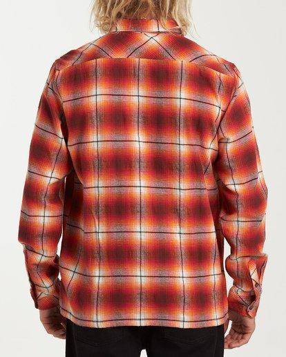 2 Coastline Long Sleeve Flannel Shirt Red M532VBCO Billabong
