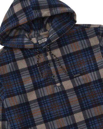 1 Furnace Anorak Polar Fleece Flannel Shirt Blue M533SBFA Billabong