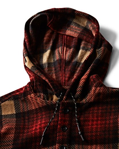 2 Furnace Anorak Polar Fleece Flannel Shirt  M533SBFA Billabong