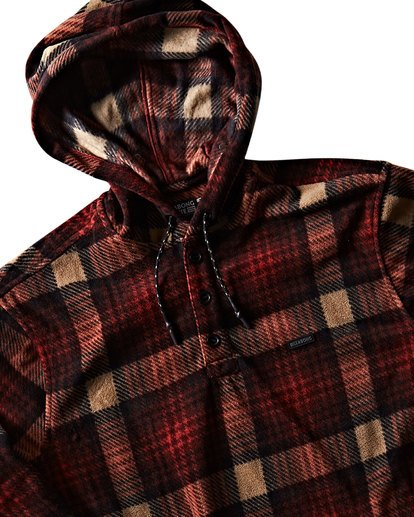 3 Furnace Anorak Polar Fleece Flannel Shirt  M533SBFA Billabong