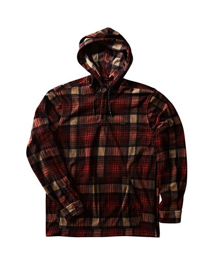 1 Furnace Anorak Polar Fleece Flannel Shirt  M533SBFA Billabong