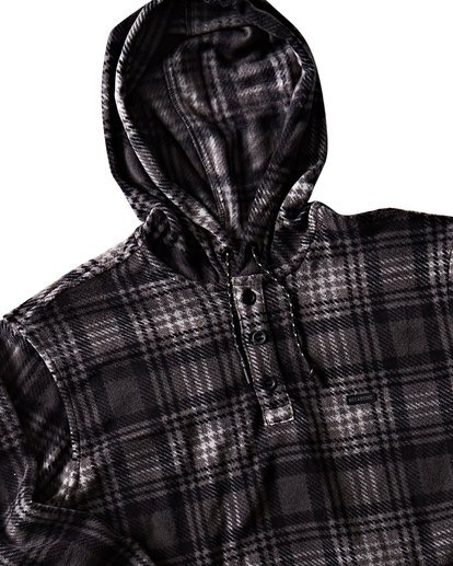 1 Furnace Anorak Polar Fleece Flannel Shirt Grey M533SBFA Billabong