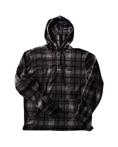 0 Furnace Anorak Polar Fleece Flannel Shirt Grey M533SBFA Billabong