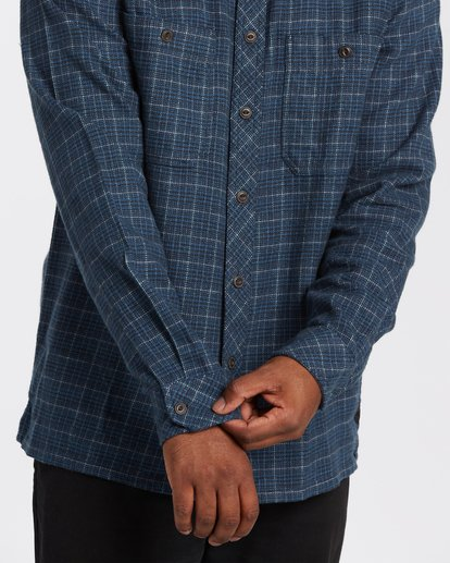 3 Offshore Flannel Shirt Blue M5353BSB Billabong