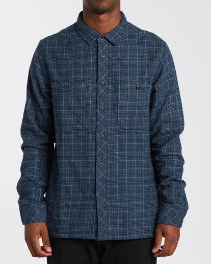 0 Offshore Flannel Shirt Blue M5353BSB Billabong