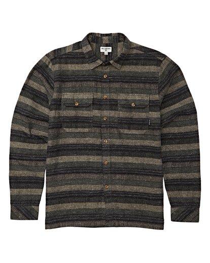5 Offshore Long Sleeve Flannel Shirt Green M535VBSB Billabong