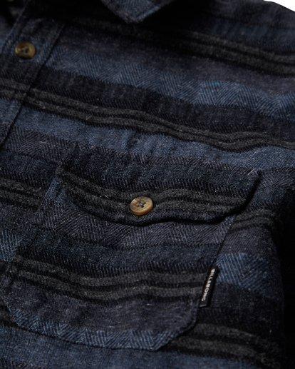 1 Offshore Long Sleeve Flannel Shirt Blue M535VBSB Billabong