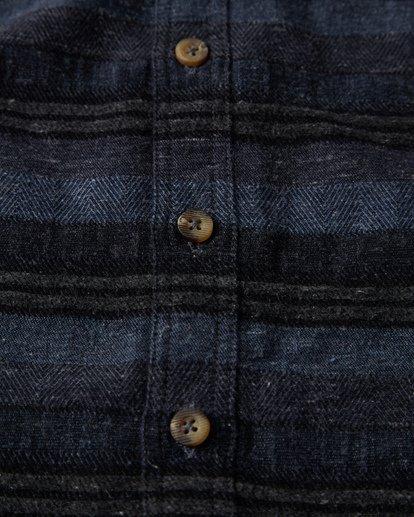 2 Offshore Long Sleeve Flannel Shirt Blue M535VBSB Billabong