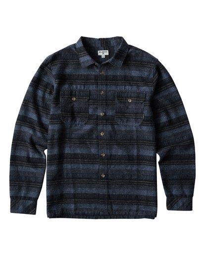0 Offshore Long Sleeve Flannel Shirt Blue M535VBSB Billabong