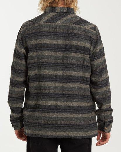 2 Offshore Long Sleeve Flannel Shirt Green M535VBSB Billabong