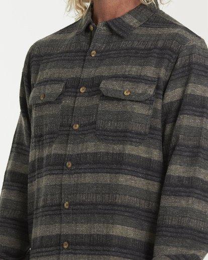 3 Offshore Long Sleeve Flannel Shirt Green M535VBSB Billabong