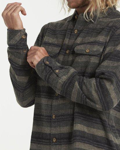 4 Offshore Long Sleeve Flannel Shirt Green M535VBSB Billabong