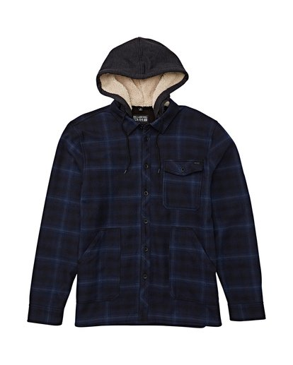 5 Furnace Bonded Hooded Flannel Blue M537WBFB Billabong