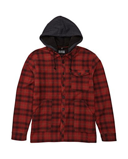 6 Furnace Bonded Hooded Flannel Red M537WBFB Billabong